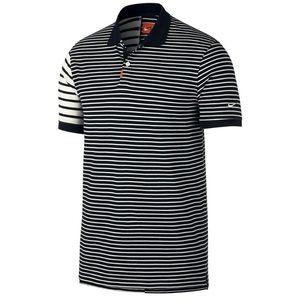 Nike Gif Stripe Golf Polo XL Black Sail XL